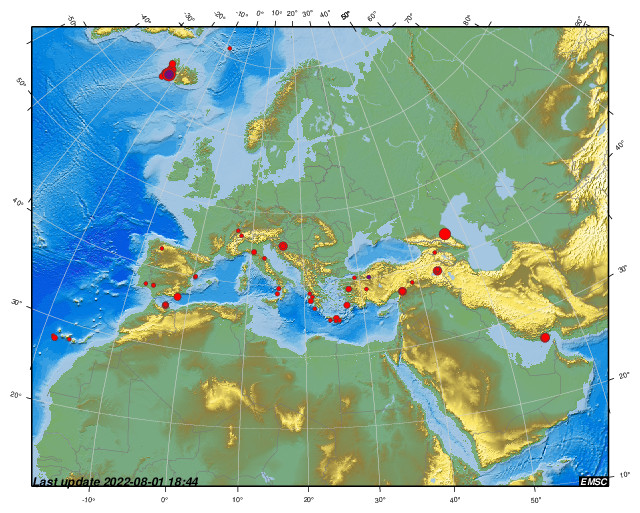 Earthquakes earthquake today latest earthquakes in the world recent earthquakes in the euro med region during the last 2 weeks gumiabroncs Image collections